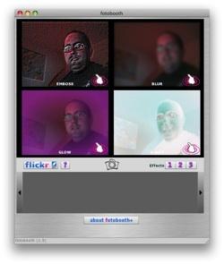 Fotobooth+Flickr, el Photo Booth de la plataforma Adobe AIR