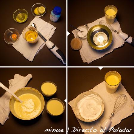 mousse melocotón - preparación
