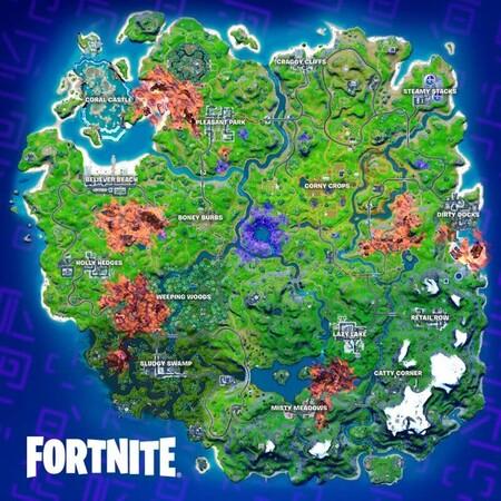 Nuevo Mapa Temporada 8 Fortnite