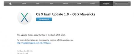 Apple saca una actualización para el Bash que anula la amenaza de Shellshock