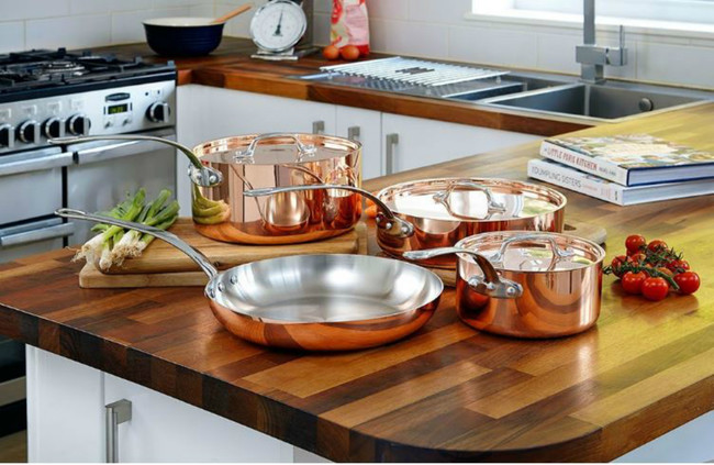 El glamour llega a la cocina con estas doce espectaculares baterías de cobre