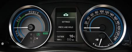 Toyota Auris Hybrid 2013, detalle del panel