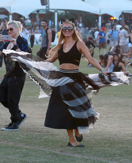 Paris Hilton Coachella 2015