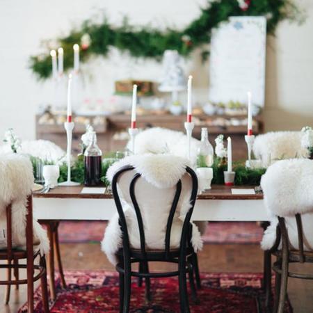 Una mesa de año Nuevo especialmente hermosa