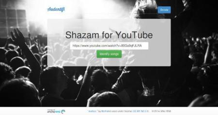 Audentifi identifica los artistas y canciones de los vídeos de Youtube