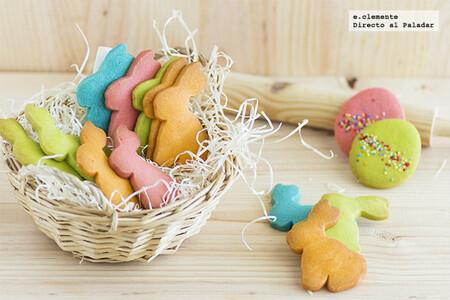 Galletas de vainilla conejos y huevos de Pascua: receta colorida para Semana Santa