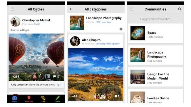 Novedades de Google+ en iOS