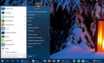 Cómo obtener el menú Inicio de Windows 7 en Windows 10