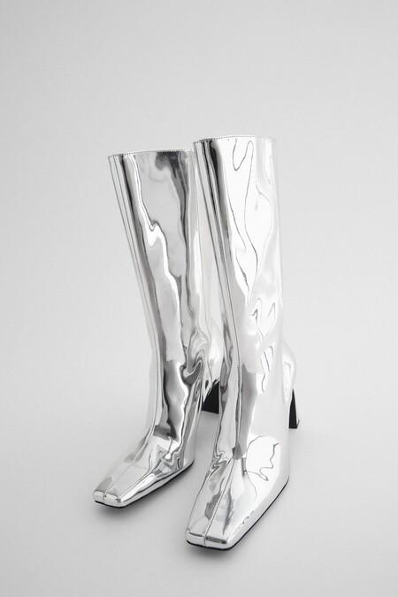 Zara Bf 2020 Zapatos Punta Cuadrada 07