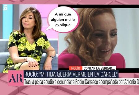 """Ana Rosa Quintana defiende a Rocío Flores frente al relato de Rocío Carrasco: """"Es una chica completamente normal"""""""