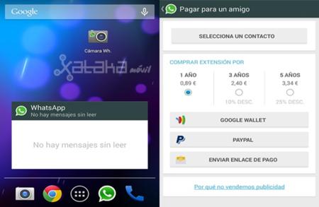 WhatsApp para Android se actualiza con nuevos widgets y opción a pagar la suscripción de otros usuarios