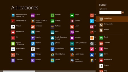 Aplicaciones de Windows 8
