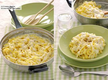 Cremosa salsa con coliflor escondida para pasta. Receta