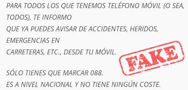 No, el móvil de emergencias no ha vuelto al viejo 088, sigue siendo el gratuito 112