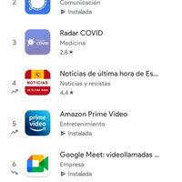 Google Play muestra qué aplicaciones suben y bajan en los tops