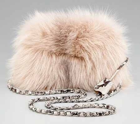 Prada Fox Fur Clutch