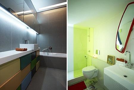 Una buena idea contrastes de color en el ba o y la cocina - Banos de contraste ...