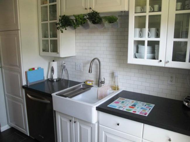 Espacios que inspiran una cocina de 7 metros cuadrados - Como distribuir una cocina cuadrada ...