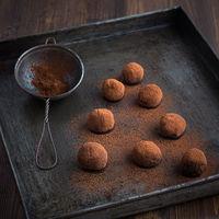 Trufas de pimienta rosa, receta sin gluten