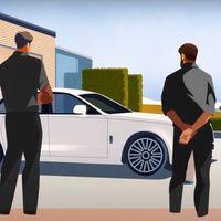 Rolls-Royce Ghost de nueva generación ya se dejó ver en un peculiar video animado