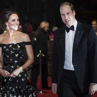 Kate Middleton vuelve a confiar en un Alexander McQueen primaveral para asistir a los Premios Bafta 2017
