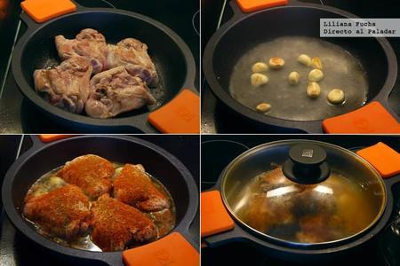 Pollo al horno en salsa de ajo y pimentón. Pasos