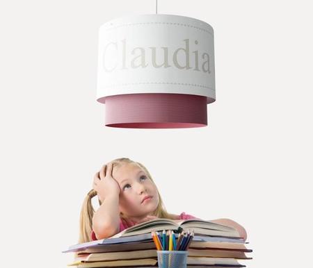 Lámparas personalizadas con el nombre del niño