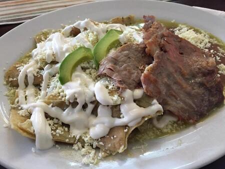 Recetas Para Saber Como Hacer Antojitos Mexicanos Chilaquiles Verdes Cecina