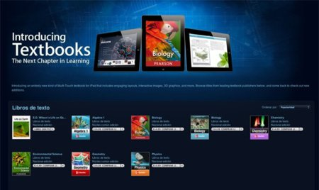 350.000 libros de texto descargados desde la iBookstore en tan solo tres días