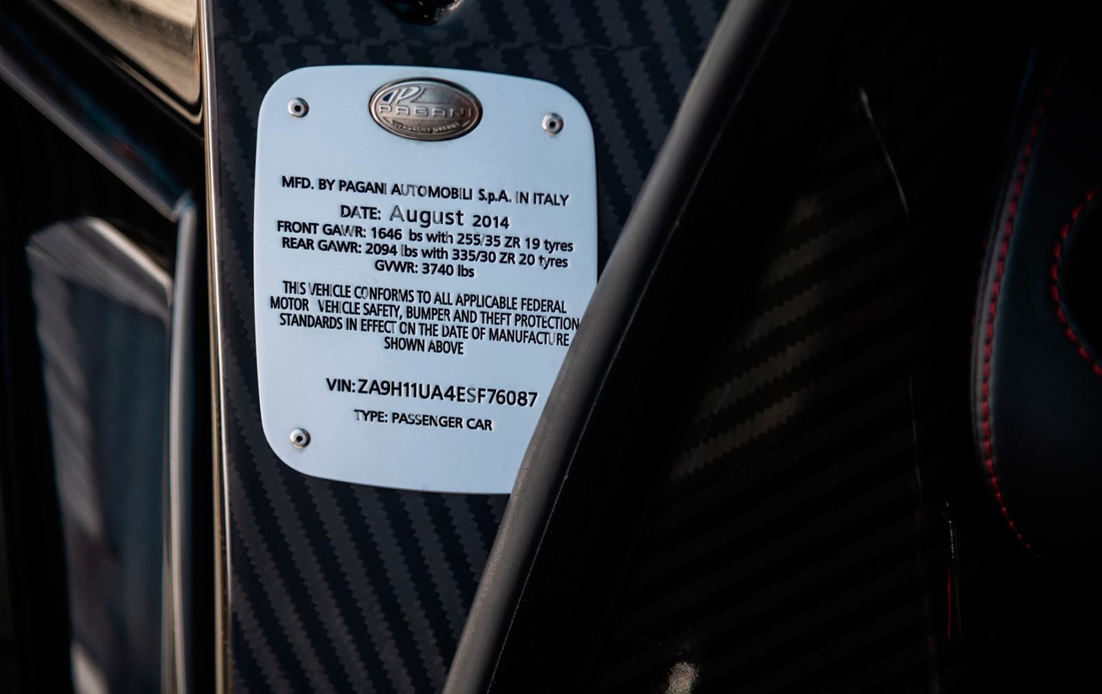 Foto de A la venta este Pagani Huayra Coupé con poco más de 1.200 km (20/21)