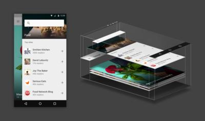 Feedly para Android recibe dosis de Material Design
