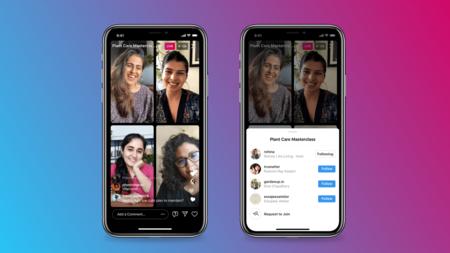 """Instagram ya permite hacer """"en vivos"""" de hasta cuatro personas al mismo tiempo: llegan los nuevos Live Rooms"""