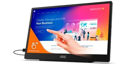 AOL anuncia el nuevo AOC 16T2, un monitor portátil para poder llevarte el trabajo a cualquier parte