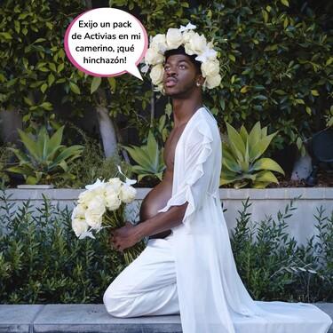 ¡Lil Nas X está embarazado! El cantante anuncia que dará a luz el próximo 17 de septiembre a 'Montero' con este espectacular reportaje luciendo barriguita