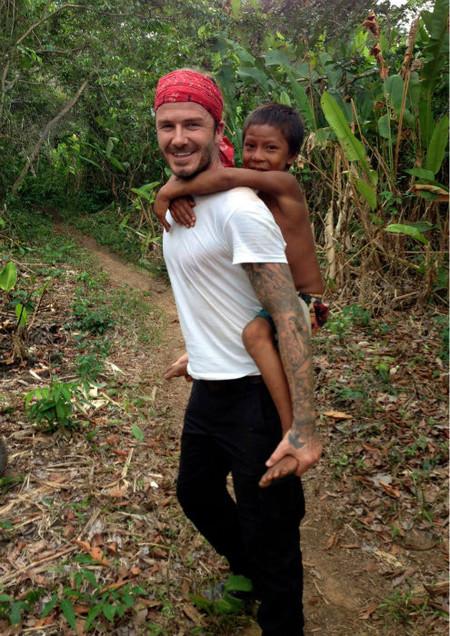 Y David Beckham se fue al Amazonas ¡Quién fuera selva!