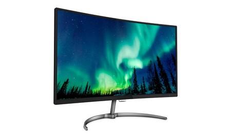 Philips 328E8QJAB5/00: 32 pulgadas Full HD en formato curvo para tu PC por 285 euros en PcComponentes esta semana