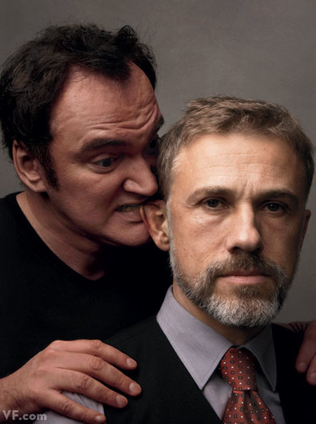Quentin Tarantino y Chrisoph Waltz
