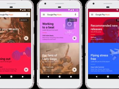 Google Play Music ahora usa inteligencia artificial para recomendarte música según lo que haces