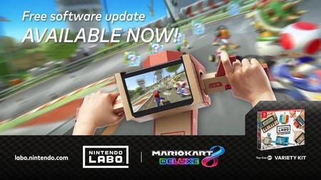 Mario Kart 8 Deluxe ya es compatible con Nintendo Labo gracias a una actualización gratuita
