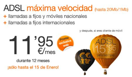 Orange vuelve a rebajar el precio de su ADSL de máxima velocidad a 11.95 euros al mes