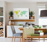 Mymap, un atlas mundial en póster personalizable con el que decorar
