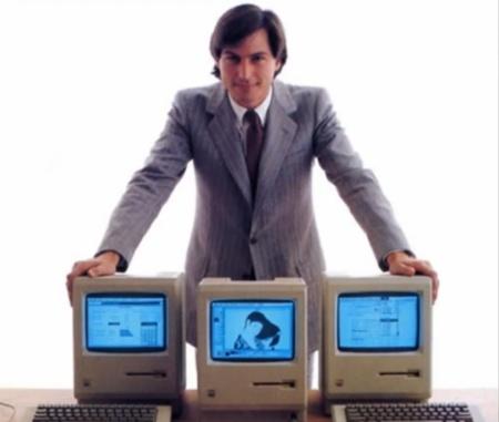 steve jobs joven macs