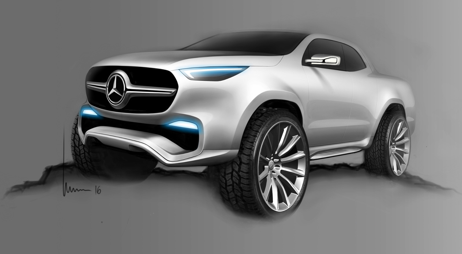 Foto de Mercedes-Benz Concept Clase X - bocetos (4/7)