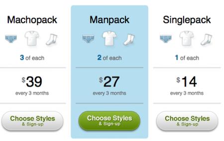 Convirtiendo las compras masculinas en suscripciones