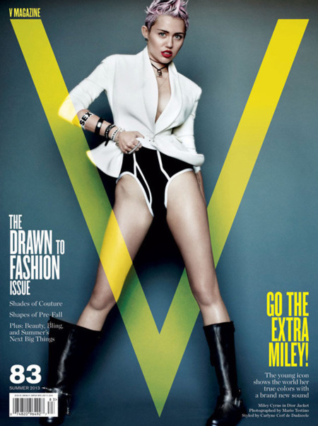 Miley Cyrus V portada
