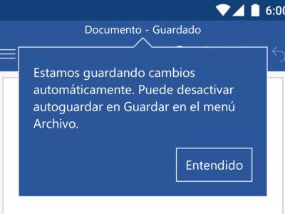 Microsoft Word, Excel y PowerPoint para Android estrenan guardado automático, historial y mas