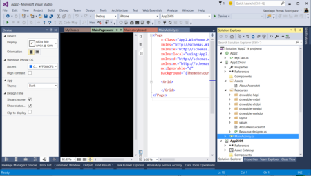 Vs2015 Windows Phone Ui Designer