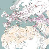 Las grandiosas rutas comerciales de la Edad Media, ilustradas en este detalladísimo mapa