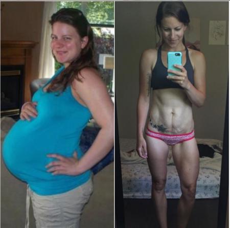 La increíble transformación de una madre antes y después de tener a sus tres hijos