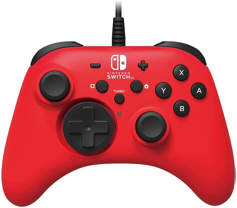HORI HORIPAD, control alámbrico para Nintendo Switch - Rojo